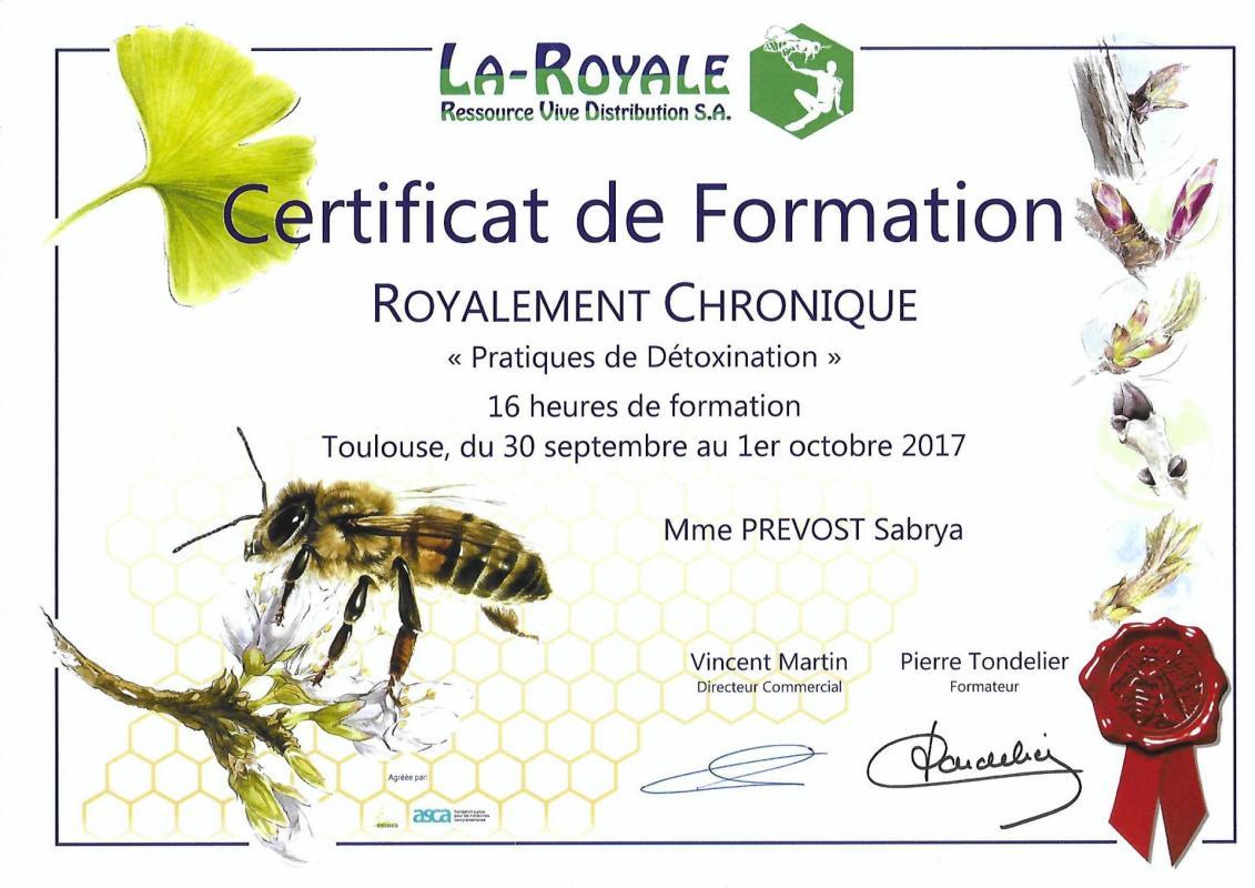 Diplome de pratiques de detoxification sabrya chaaf 2