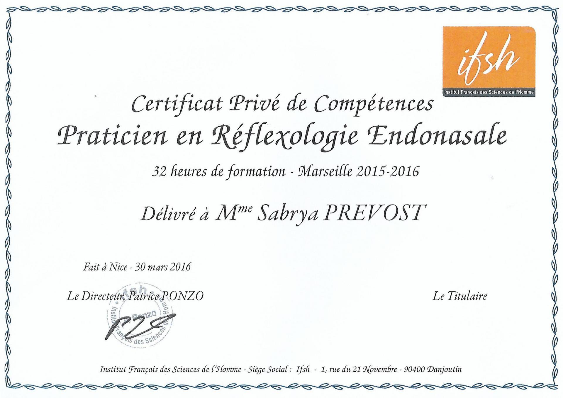 Réflexologie Endonasale