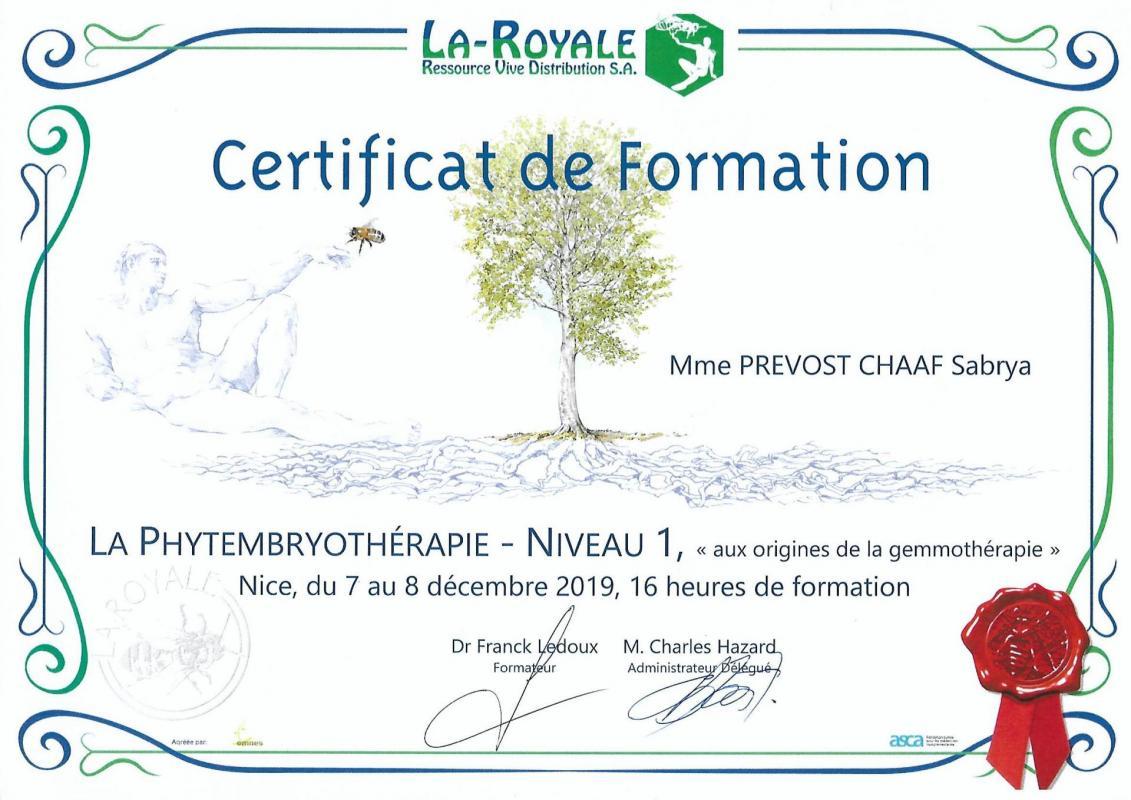 Certificat de formation en phytoembryotherapie 1 sabrya chaaf 3