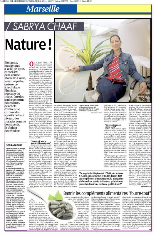 Sabrya chaaf la provence edition marseille oct 19 page 001